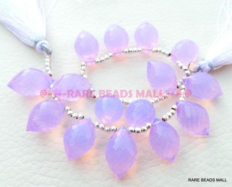 Lavender Quartz Dew Drops BeadsLavender Quartz Faceted Dew Drops BriolettesQuartz Gemstone Briolettes16x10 MM5 Matched PairsGMS-LV1