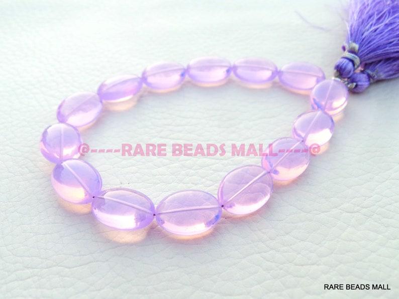 Lavender Quartz Oval BeadsLavender Quartz Smooth Oval Shape BriolettesLavender Quartz Gemstone Briolettes7 Inch StrandGMS-LV1