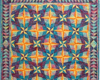 Twilight Foundation Paper Pieced Quilt Pattern-pd download