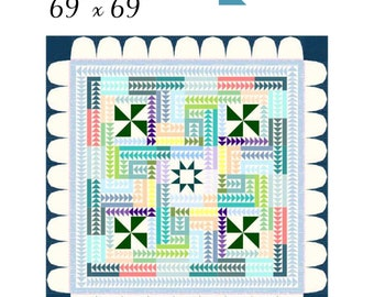 """69"""" x 69"""" The Mosaic-foundation paper pieced pattern-pdf download"""