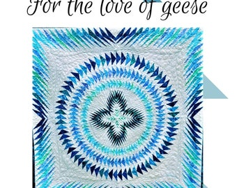 For the love of geese foundation paper pieced quilt pattern-pdf download