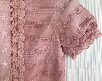 Alice in Wonderland Garden Dress // OOAK vintage 1960s modern twiggy shift dress // XXS/XS