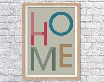 LOVE HOME PRINT A3