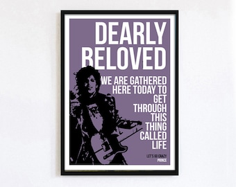 Prince - Let's Go Crazy A3 print
