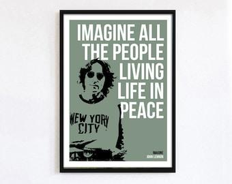 John lennon A3 Imagine print