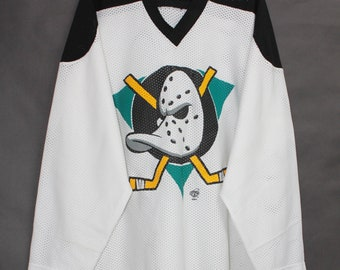 Vintage 90s Ravens Ducks Athletic NHL Ice Hockey White Long Sleeve Top Tee  T Shirt T-Shirt Jersey size L 330ee3933
