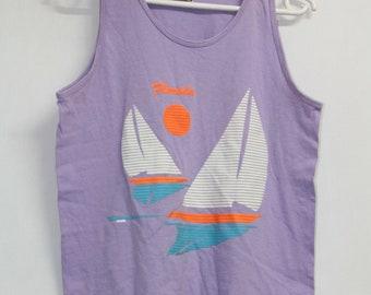aa5d99e81 Vintage 80s Florida Beach Top Tee T Shirt T-Shirt size S / M