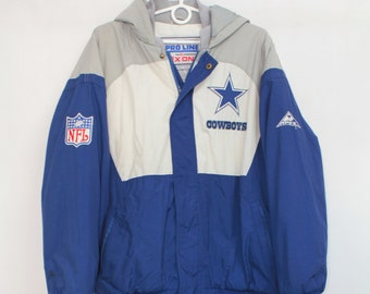 Vintage 90s Authentic Pro Line Apex One Cowboys NFL Sport Jacket Coat M 29644f588