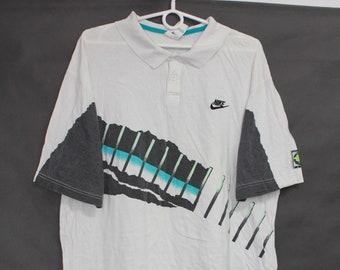 d2bd04dd Vintage 90s Nike Challenge Court Tennis White Top Tee T Shirt T-Shirt size L