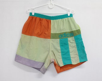 a488df367a Vintage 80s Adidas Colorful Beach Summer Shorts size M W28