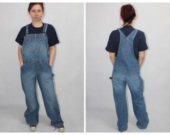 efd2e952 Vintage 90s Tommy Jeans Tommy Hilfiger Blue Denim Dungarees Trousers Pants  size XL W40