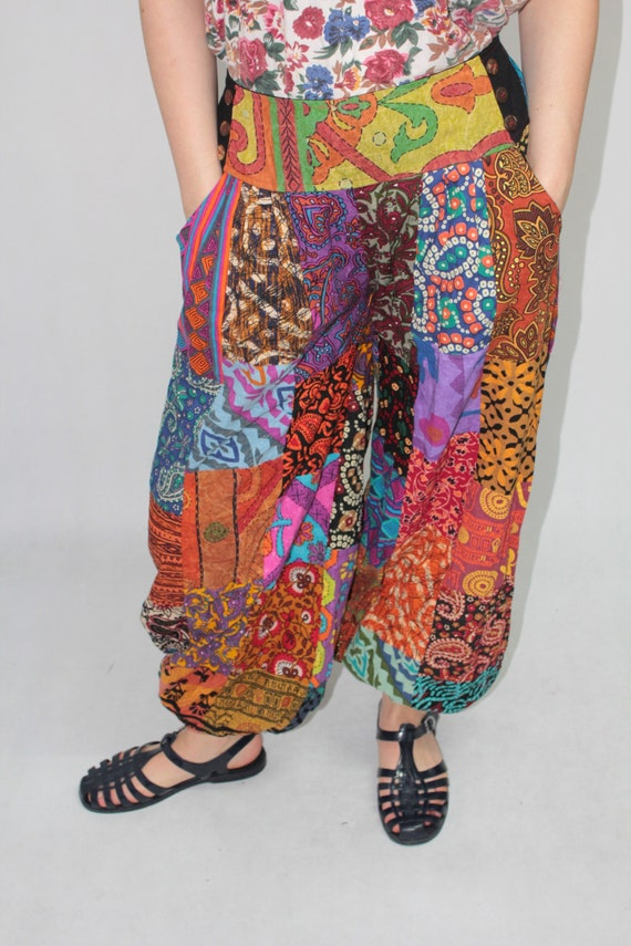 Vintage 90s Colorful Patchwork Abstract Pattern Ba