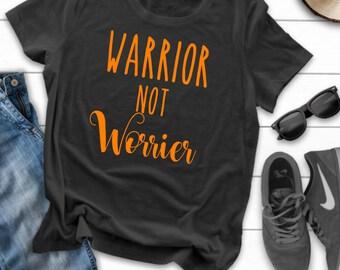 4e4f8f788 Warrior not worrier tshirt , Multiple sclerosis , Ms awareness , MS gift ,  MS awareness gift
