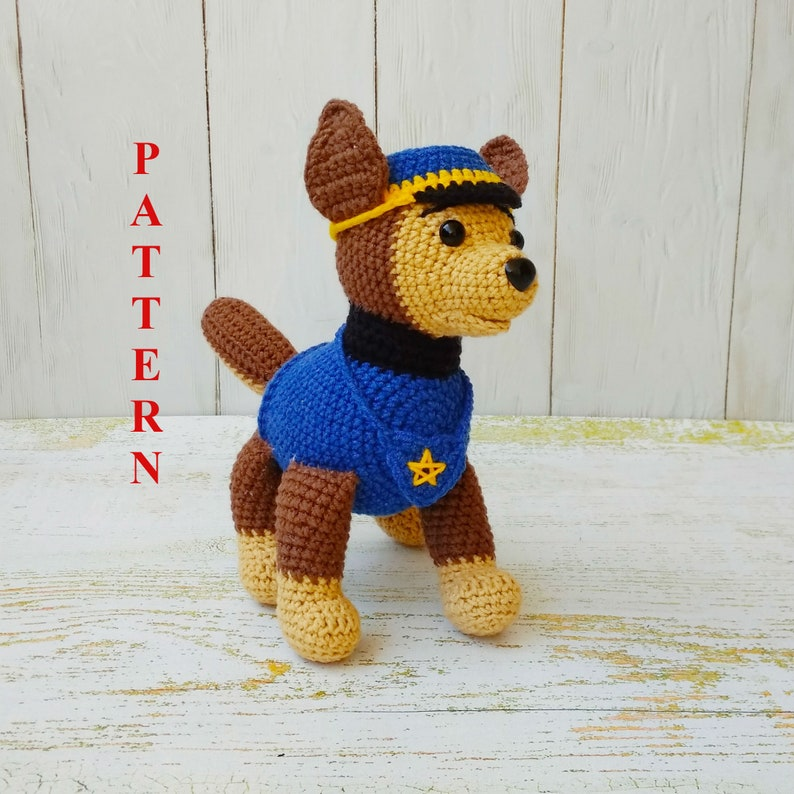 Crochet Dog Pattern Paw Patrol Pattern Amigurumi Dog Stuffed Etsy