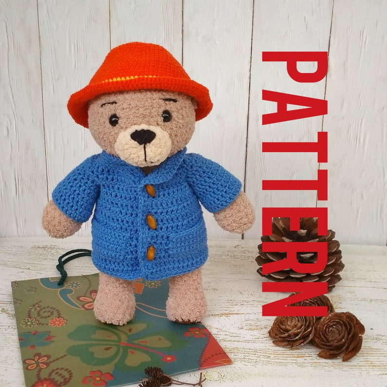 Amigurumi pattern crochet teddy bear pattern Paddington image 0