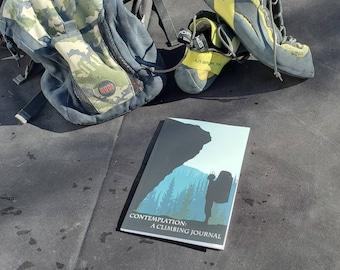 Climbing Journal, Bouldering Journal, Contemplation, gift for boulderer, gift for climber, climbing logbook, climbing notebook
