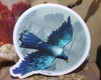Hawk Vinyl Sticker, falcon sticker, bird sticker, wildlife sticker, nature artwork, bird art, hawk art, gift for bird watcher, bird lover