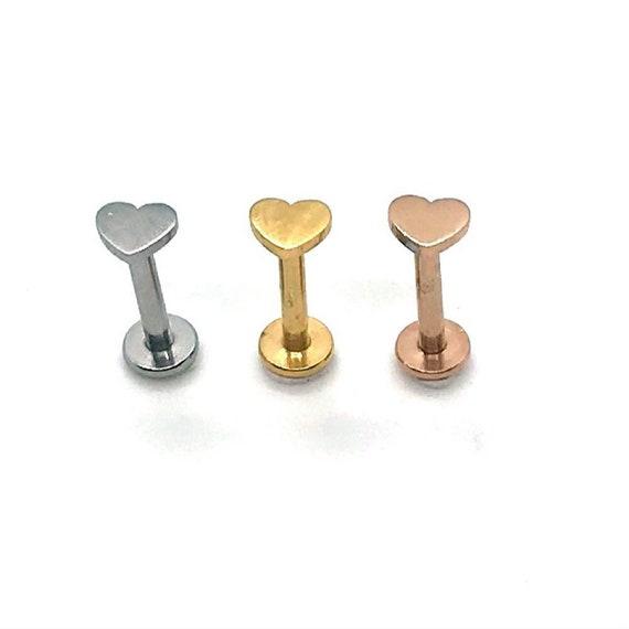 1.2mm x 8mm or 12mm bar Tragus Bar Gold Plated Crystal Monroe Lip