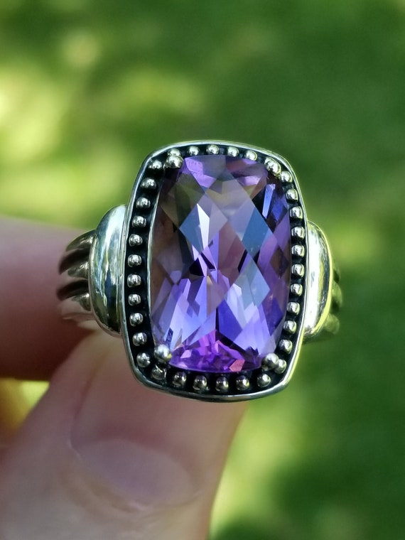Michelle Albala Checkerboard Faceted Amethyst Ster