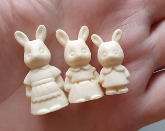 Unpainted Miniature Sylvanian Family Figures