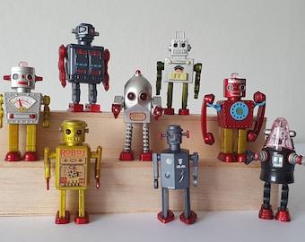 "Mini 2"" Vintage Retro Toy Robots"