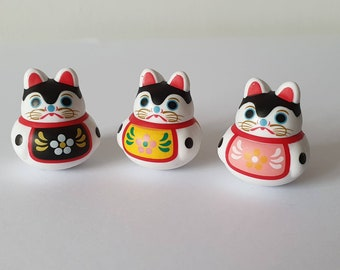 Mini Roly Poly Lucky Cat Tumble Toy