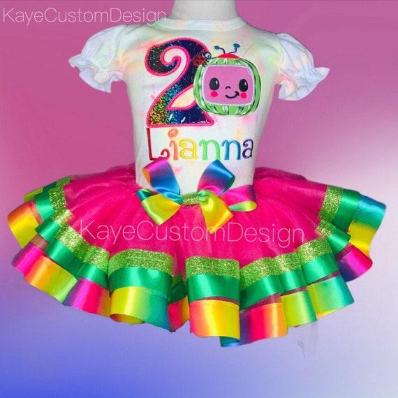 cocomelon Birthday outfit cocomelon birthday shirt toddler girl cocomelon birthday outfit cocomelon 2nd birthday outfit cocomelon tutu