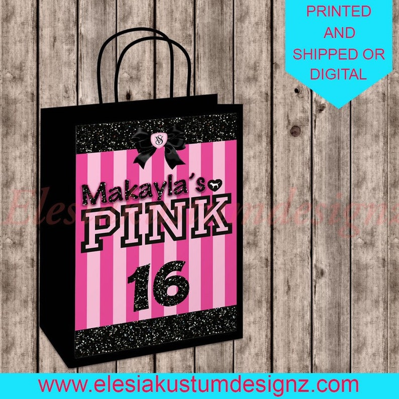 VS pink party printable for birthday