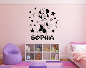 Minnie Mouse Wall Decals Etsy