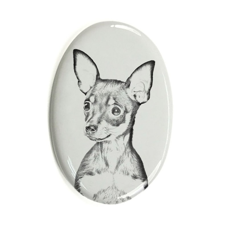 Ceramic plate with Your Dog/'s Photo Custom Memorial Plaque Russian Toy Tombstone Plaque with a Photo of a Dog