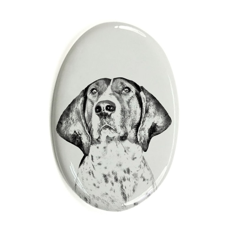 Custom Memorial Plaque Treeing Walker Coonhound Tombstone Plaque with a Photo of a Dog Ceramic plate with Your Dog/'s Photo