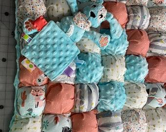 Puff Pattern or Biscuit Quilt & Blanket Pattern