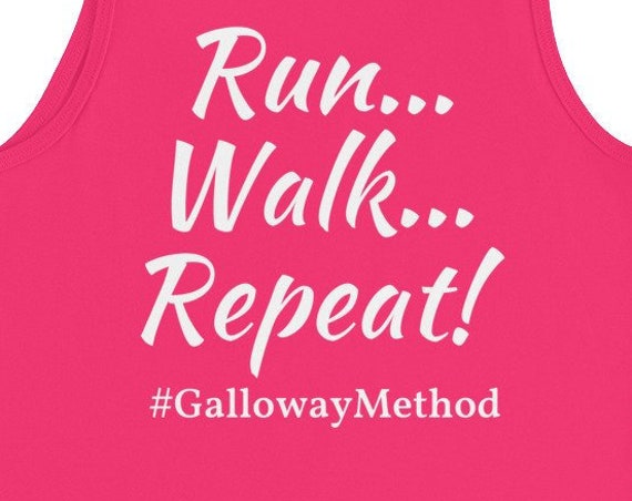 Running Tank Women's | Funny Workout Tank | Run...Walk...Repeat! #GallowayMethod Tank