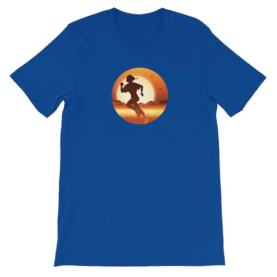 Running Shirt Women's | Funny Workout Shirt | Girl Running In Sunset