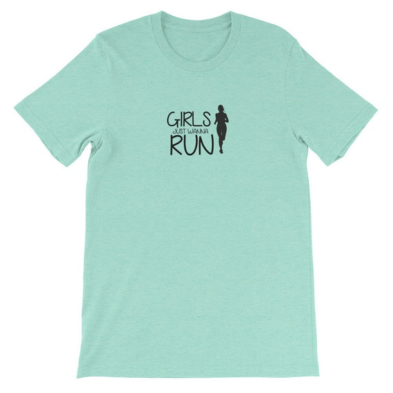 Running Shirt Women's | Funny Workout Shirt | Girls Just Wanna Run