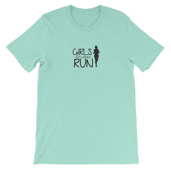 Running Shirt Women's | Funny Workout Shirt | Girls Just Wanna Run