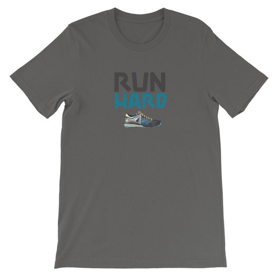 Running Shirt Women's | Funny Workout Shirt | Run Hard