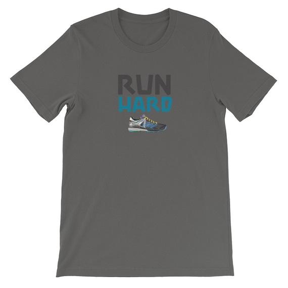 Running Shirt Women's | Funny Workout Shirt | Run Hard