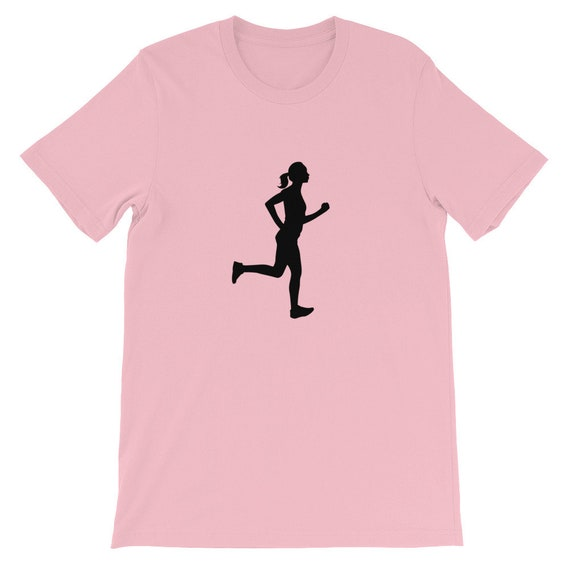 Running Shirt Women's | Funny Workout Shirt | Passed By A Girl! Dark Font on Light Shirt