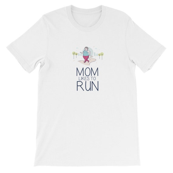 Running Shirt Women's | Funny Workout Shirt | Mom Likes To Run