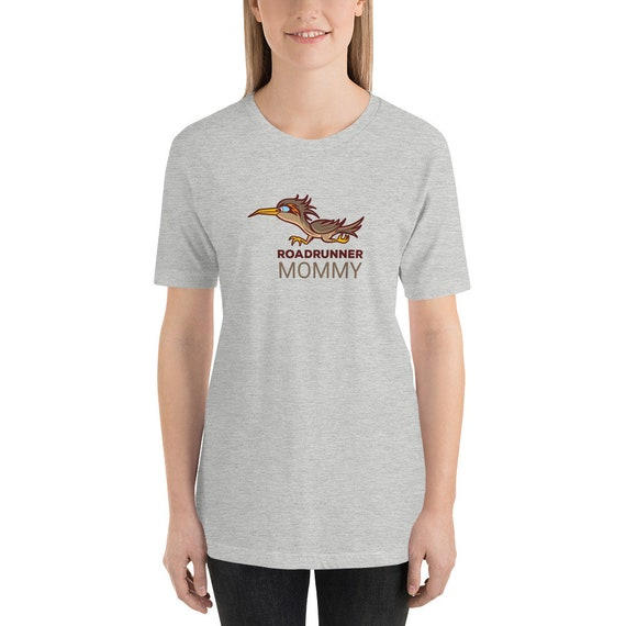 Running Shirt Women's | Funny Workout Shirt | Roadrunner Mommy Statement Tee