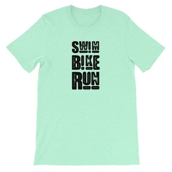 Running Shirt Women's | Funny Workout Shirt | Swim Bike Run