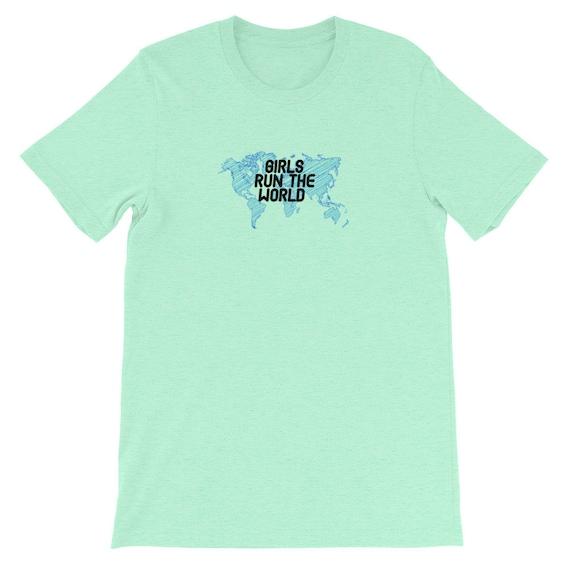 Running Shirt Women's | Funny Workout Shirt | Girls Run The World