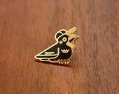 Carrier Crow Enamel Pin