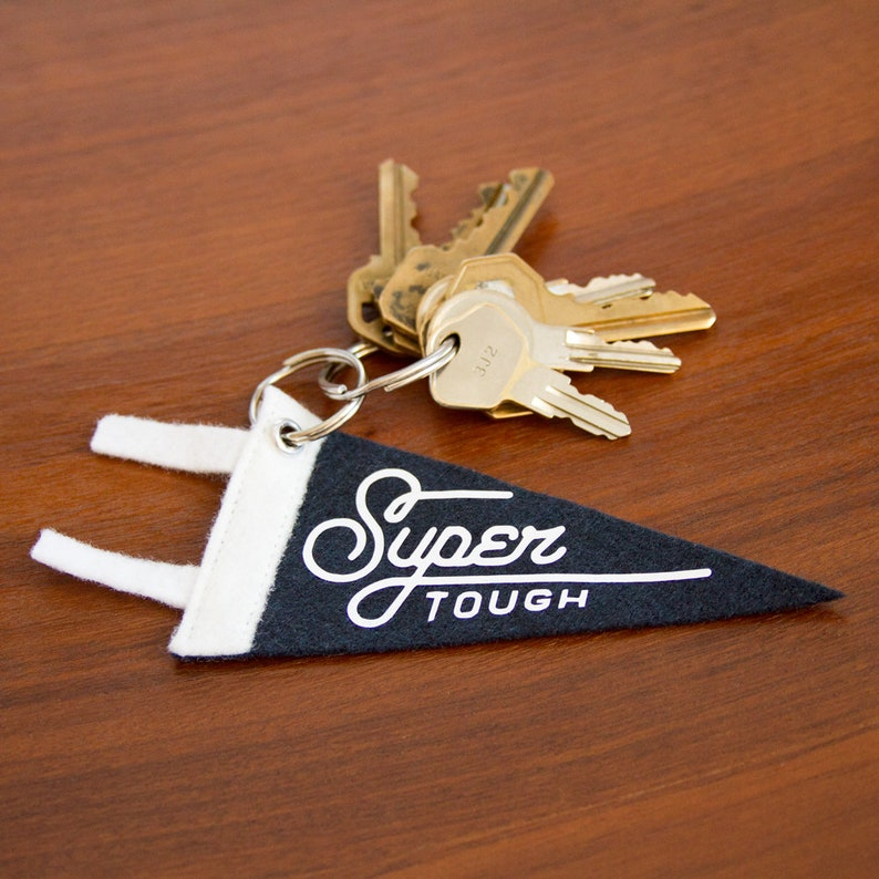 Super Tough Mini Pennant Keychain image 0