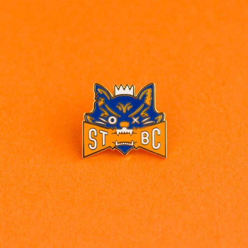 Bad Kitty Enamel Pin image 0