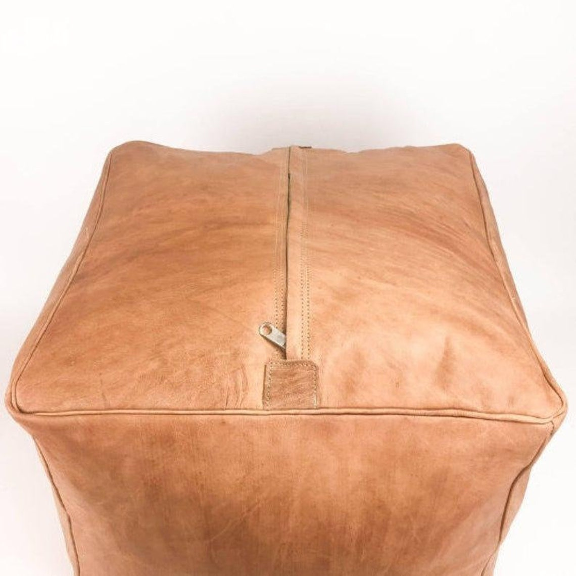Square pouf. set of 2 Moroccan pouf, leather Pouf, ottoman pouf handmade pouf footstool