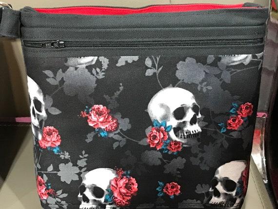 Crossbody Purse Bag|Canvas Bag Purse|Handmade USA|Medium Purse|Red Purse|Pink Kiss Purses|Shoulder Bag|HandBag|EveryDay Bag|Red Hats