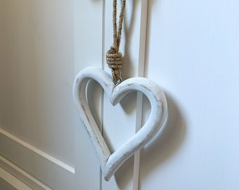 LOVE JEWELLERY HOLDER WALL MOUNTED HEART ROMANTIC NECKLACE EARRINGS SHABBY CHIC