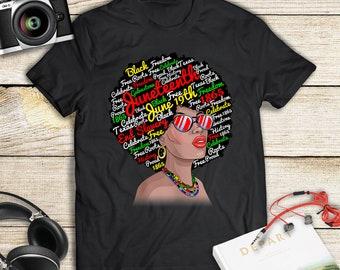 c1e03073c37 Juneteenth Queen Melanin African American Women Tee T-Shirt